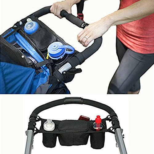 Vicloon Baby Stroller Organizer Storage Bag ,Stroller Accessories bag,Pram Pushchair Cup Holder Stroller Buggy Bottle Drink Food Hanging Storage Pouch ,Waterproof Handle Hanging Pallets Bag ,Diaper Bag