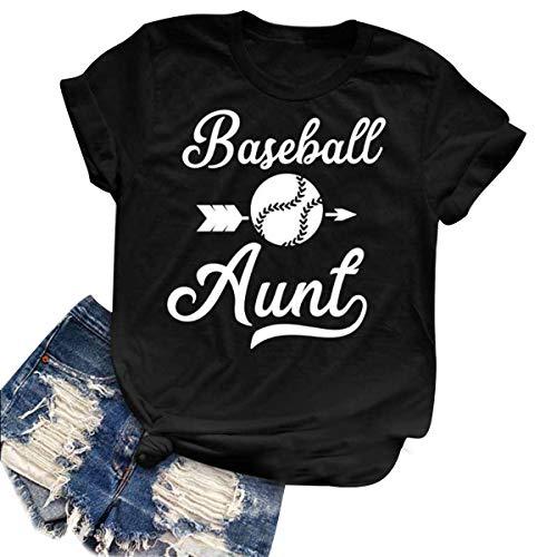 Carta de béisbol de impresión gráfica Camisas Mujer de Manga Corta de  Cuello O Casual Camiseta 35d7a6279a3