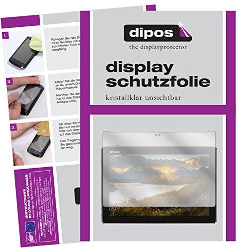 dipos I 2X Schutzfolie klar passend für Asus ZenPad 10 (Z301 ML/MFL) Folie Bildschirmschutzfolie