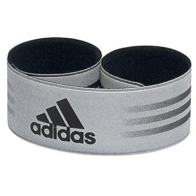 2 x adidas Reflektor-Streifen zum Laufen - Für Handgelenk und Knöchel - Silbern