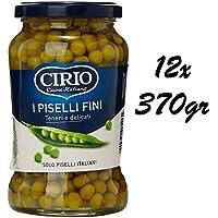 12x Cirio Italian Ready to Eat Peas 370g