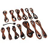 CableMod SE-Series KM3, XM2, XP2/3, FL2, Prime, XFX Cable Kit - Negro/Naranja