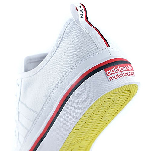 adidas Herren Matchcourt RX Skateboardschuhe Weiß (Ftwwht/Cblack/Scarle Ftwwht/Cblack/Scarle)