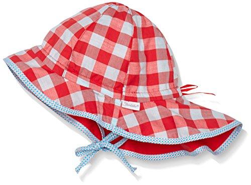 Sterntaler Baby - Mädchen Mütze Flapper m. Nackenschutz, Gr. 49 cm, Rot (paprikarot 806)