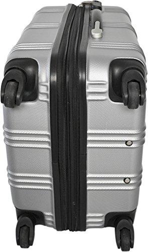 REISEKOFFER REISEKOFFERSET TROLLEY KOFFER 2er oder 3er SET von normani®, 4 kugelgelagerte Leichtlauf-Rollen, 360-Grad-Rollen-System New-Style/Silver