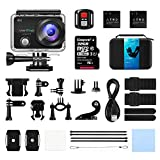 Caméra Sport 4K, VANTOP 2.26 '' LCD Ultra HD 16MP Appareil Photo WiFi Etanche 30M, Grand Angle 170 °, avec 32GB Carte Micro SD...