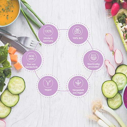 GRAVIDA Vegan Folsäure 800 µg für Kinderwunsch, Schwangerschaft & Stillzeit - mit DHA EPA (Omega 3), Vitamin D & B12, Eisen, Jod, 60 Tabletten + 60 Kapseln - 8