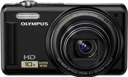 Olympus VR-310 Digitalkamera (14 Megapixel, 10-fach opt. Zoom, 7,6 cm (3 Zoll) Display, bildstabilisiert) schwarz