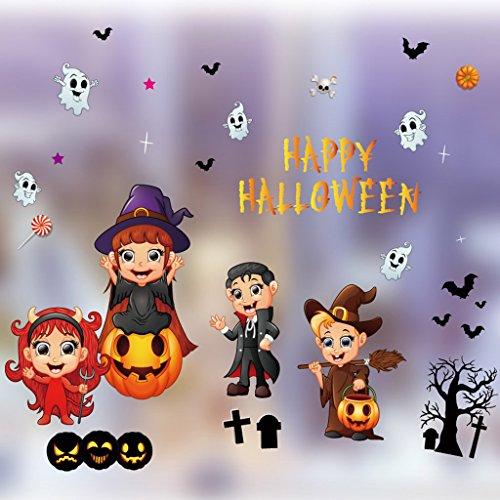 Halloween Ornamente Showcase Elektrostatische Aufkleber Layout Requisiten Supplies Kürbis Aufkleber Hexe Fenster Aufkleber Glas Aufkleber ( Color : 4 (Skelett Ausdrucken Kostüm)