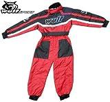 Bambini 1 Pezzo Suit: WULFSPORT ATV MX QUAD Tuta 1 Pezzo Tuta Juniores di Corsa,...