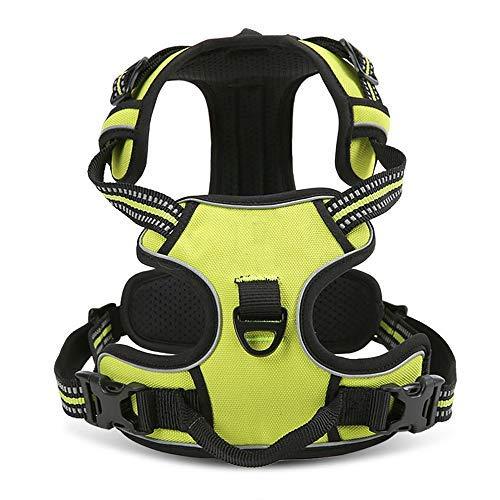 Pettom Pettorina Cane Imbracatura Durevole Regolabile Confortevole in Panno Oxford con Maniglia S-L-M-XL 43-107cm