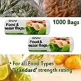 Schwere duty- Gefrierschrank Aufbewahrung Speisen bags-for Verpackung, Gastronomie, Büro & Home Verwenden Sichere Lebensmittelkonservierung 1.000er-Pack