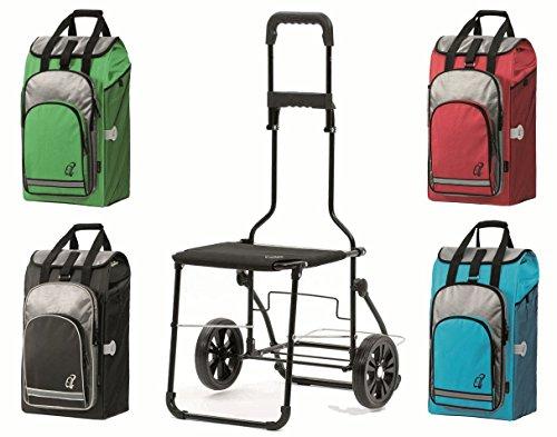Andersen Komfort Shopper mit Stuhl - Einkaufstrolley Türkis