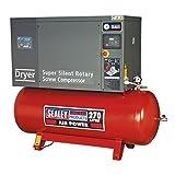 Sealey ssc12710d vite compressore a basso rumore con asciugatrice, 10HP, 3PH, 270Liter