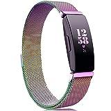 Onedream Kompatibel für Fitbit Inspire & Inspire HR Armband für Damen Herren, Milanese Metall Ersatzarmband Kompatibel für Fitbit Inspire HR Fitness Tracker Zubehör Armband Bunt,S
