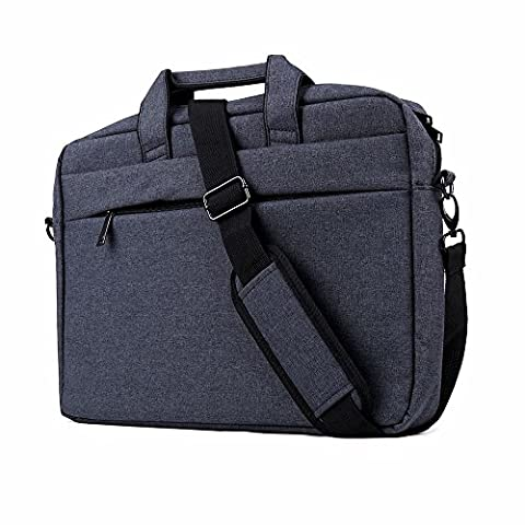 "Clamshell Sacoche pour Ordinateur Portable 15,6-17"", iCasso imperméable Sac à Bandoulière Besaces/ Tablette Sleeve pour MacBook Air /Pro Retina HP Dell Samsung Sony ASUS Lenovo Surface Pro - Bleu Marin"