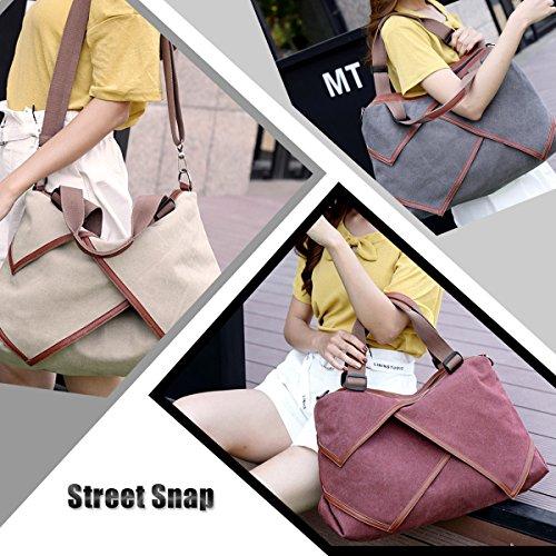 LOSMILE Women s handbag Canvas Shoulder Bag Large Hobo Tote Bags Ladies  Top-Handle Casual Beach Holiday Weekend Bags. (Purple) - Buy Online in UAE. 69c347779f7bf