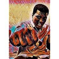 """Aluminium metal wall art """"Muhammad Ali"""""""