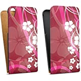 HTC Desire 820 Tasche Hülle Flip Case Blumen Ranken Pink