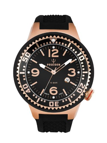 Kienzle Men's Quartz Watch POSEIDON L Slim K2093033143-00410 with Rubber Strap