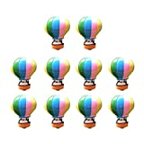 Fenteer Miniatur Ornament Craft DIY Landschaft Puppenhaus Decor - 10pcs Heißluftballon, 2.4x3.0cm
