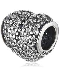Pandora Damen-Charm 925 Sterling Silber Herz Zirkonia weiß 791052CZ