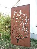 Garten Sichtschutz aus Metall Rost Gartenzaun Gartendeko edelrost Sichtschutzwand 031480-5 150*75*2cm
