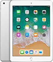 "Apple iPad 9.7"" (2018 - 6th Gen), Wi-Fi, 128GB, Silver [With Face"
