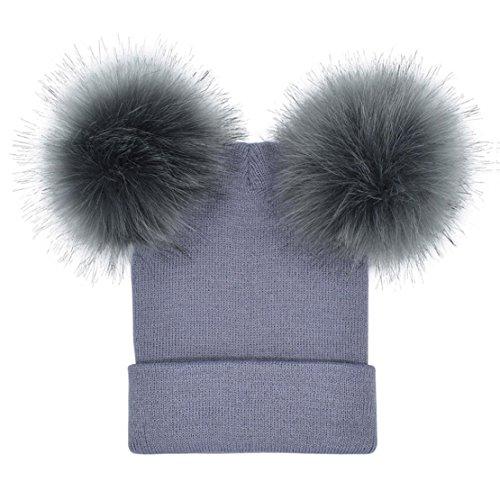 Bluestercool Cappello Berretto Donna Inverno Elegante Beanie in Cotone a  Maglia 0f5d52bfc053