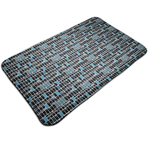 Bikofhd Oboe Blues Waterproof Indoor Outdoor Entrance Doormat Rug Floor Mats Shoe Scraper Doormat with Non Slip Backing,19.5x31.5 Inch