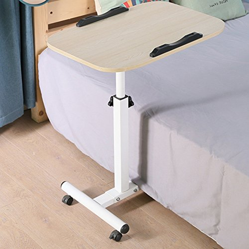 Jia He Lapdesks Laptop-Tisch - Lounger Bed Beistelltisch Büchertisch Desktop Home Use Einfach zu verstellbare Höhe zusammenklappbar Platz sparende optionale Farbe (Farbe : Holz) -