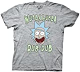 Rick and Morty Wubba Lubba Dub Dub Heather Gray T-shirt (Adult L)