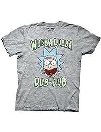 Rick and Morty Wubba Lubba Dub Dub Adult Heather Gray T-shirt