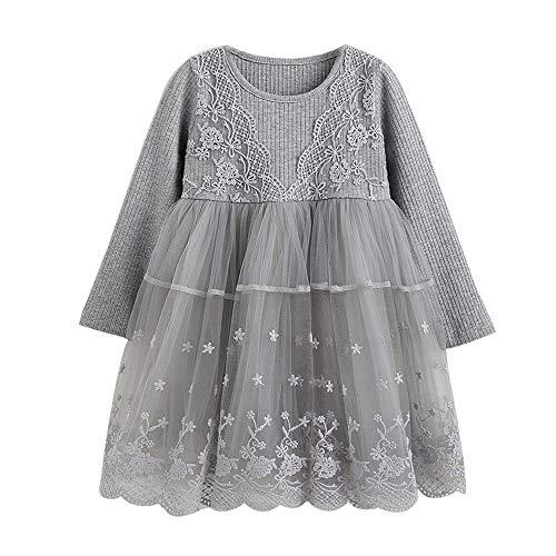 Kleinkind Kinder Baby Mädchen Spitze Blume Prinzessin Party Pageant Kleider Kleidung YunYoud...