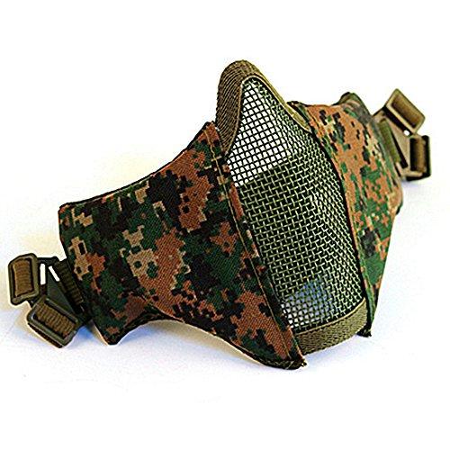 Kingnew Komfortable Einstellbare untere Gesichtsschutz-Halbmaske Faltbare Mesh-Maske (Jugle)