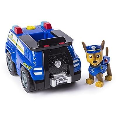 PAW PATROL Patrulla Canina - Chase 's Transforming Police Cruiser con megáfono abatible, para Edades de 3 y más de Spin Master