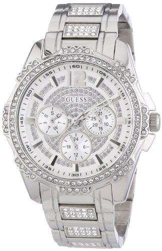Guess W0286L1 - Reloj con correa de metal, para mujer, color plateado