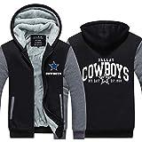 Wellgift Cowboys Hoodie Winter Kapuzenjacke Dick Plus Samt Jacke Reißverschluss Sweatshirt Kostüm Erwachsene Jugendliche Warme Mantel Mit Kapuze Kleidung Jumper