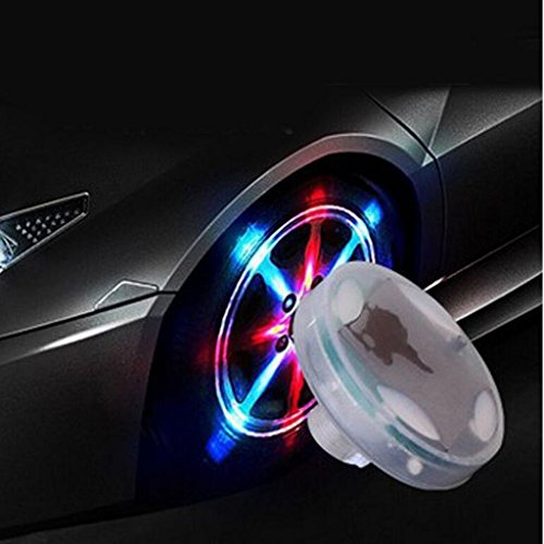 ehao Auto Wasserdicht Solar Energy Wheel Deko-Solar Power blinkende bunte LED Reifen Licht lampe Leuchte Gas Düse Gap Motion Sensoren für Auto Motorräder Fahrräder (4)