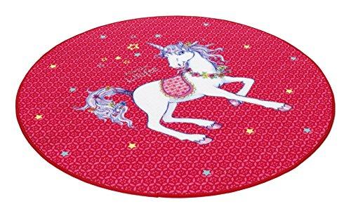 Prinzessin Lillifee LI-103 Druckteppich, 100 cm, rund