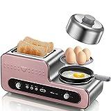 LI DANNA 220 V Haushalt Multifunktions Brot Toaster Automatische Toast Kochwerkzeug Frühstück Maschine Bratpfanne Eierkocher,Gold