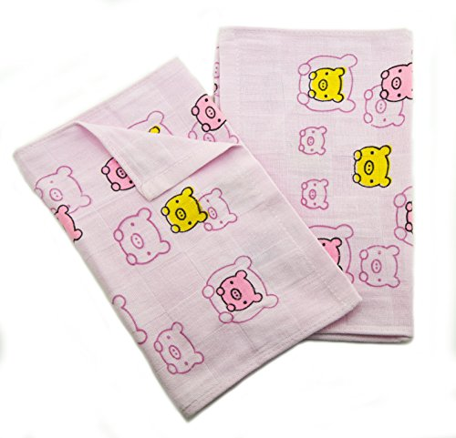 Hand® 0581 Rosa Schweine Baby Kinder 100% Baumwolle große Waschlappen - 48 x 26 cm