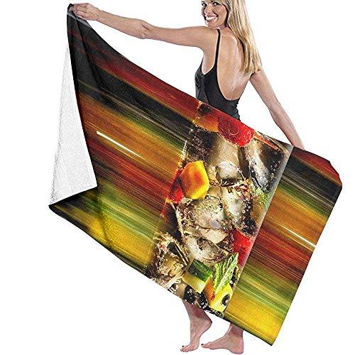 Sdltkhy Beach Towel,Cocktail Wallpaper Travel Towels Spa Beach Towel Wrap for Girls,80x130cm -