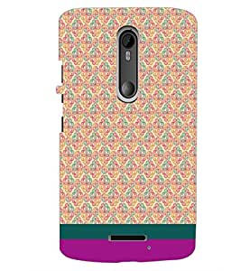 PrintDhaba Floral Pattern D-1883 Back Case Cover for MOTOROLA MOTO X3 (Multi-Coloured)