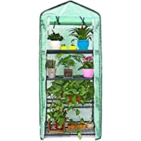 Mini serra, piccole piante serre, 4ripiani stand portatile da giardino verde casa per esterni e interni, 68,6cm di lunghezza x 48,3cm di larghezza x 154,9cm di altezza