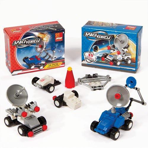 Macchinari spaziali per bambini da costruire (confezione da 4)