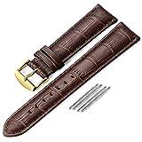 iStrap 17mm Uhrenarmband Lederarmband Alligator Korn Echtleder Ersatz Smart Uhr Armband 12mm-20mm für Studenten für Männer für Frauen