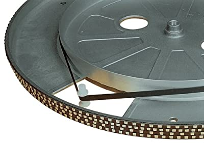 175mm TURNTABLE DRIVE BELT DJ EQUIPMENT FLAT CROSS-SECTION 5mm WIDE NEW