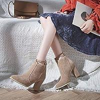 HOESCZS Tacchi Alti Autunno E Inverno Nuove Scarpe da Donna Moda Stivali da  Donna Stivali con ad263dc1873