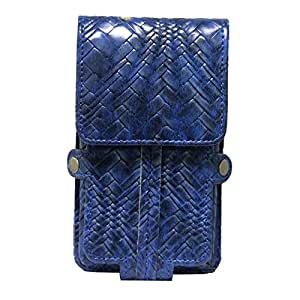 Jo Jo A6 Bali Series Leather Pouch Holster Case For Huawei B199 Dark Blue